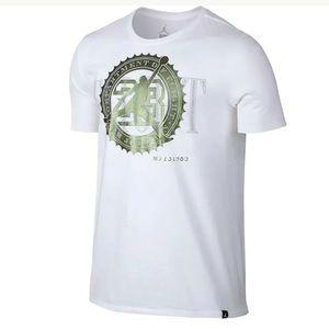 Jordan Pure Money Bank Note T-Shirt White Green